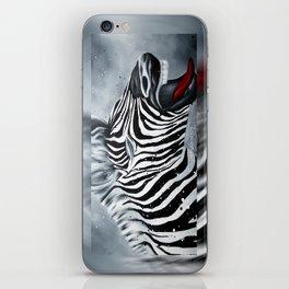 Cheeky Zebra iPhone Skin