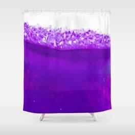 Violet Crystalline Shower Curtain