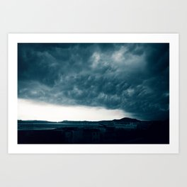 Stormy day in Pozzuoli, Bay of Naples, Italy Art Print