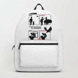 Introducing Children to Wildlife Safe Unsafe Backpack