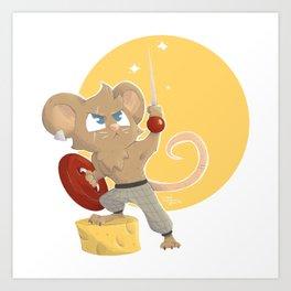 Warrior Mouse Art Print