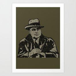 Al Capone Calligram Art Print