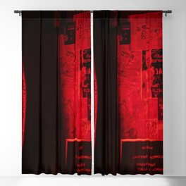 Red Neon Room Blackout Curtain