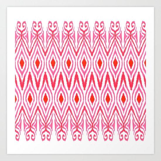 Ikat Watermelon Art Print