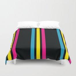 Stripes on Black Duvet Cover
