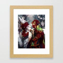 I breed Tiger-Dragons  Framed Art Print
