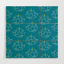 Water Lilies Wood Wall Art
