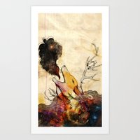 howl Art Prints featuring Howl by Lucy Wood - White Rabbit Says