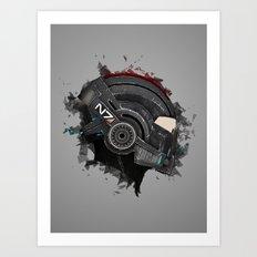 Beloved Helmet Art Print
