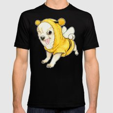 Chihuahua - YOGURT the pirate dog  MEDIUM Black Mens Fitted Tee