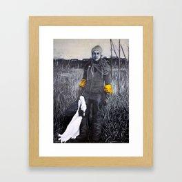 Nina and the swan Framed Art Print