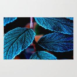 Peacock Blue Leaves Nature Background #decor #society6 #buyart Rug