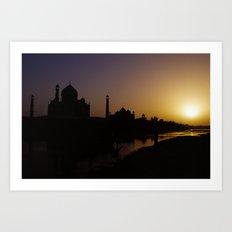 Taj Sunset Art Print
