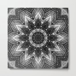 Black and white relaxation Metal Print