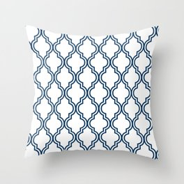 Navy Moroccan Throw Pillow