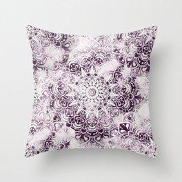 MANDALA WONDERLAND IN PINK Throw Pillow