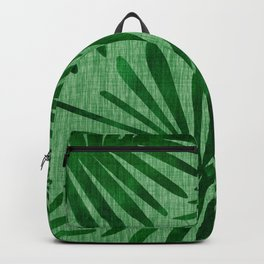 Emerald Retro Nature Print Backpack