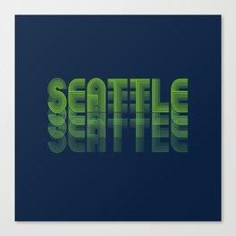 Seasons K Designs Seattle Fade Canvas Print