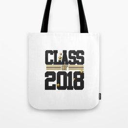 class of 2018 graduation grade senior 2018 new student love art gold hot Tote Bag