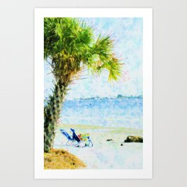 Palm View Abstract Art Print
