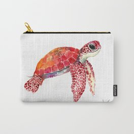 Turtle Children Animal design Red, pink Orange cute turtle Carry-All Pouch
