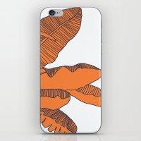 banana leaf iPhone & iPod Skins featuring Banana Leaf Print by Home by Bear