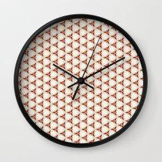 Three red pattern Wall Clock