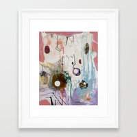 moon phase Framed Art Prints featuring Pisces Moon, Phase 1 by Ysabel Price