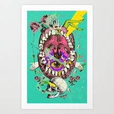 PSYCHEDELIC TEETH VISION Art Print