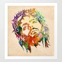 jesus Art Prints featuring JESUS  by mark ashkenazi