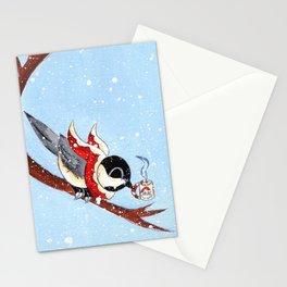 Hot Chocolate Chickadee Stationery Cards