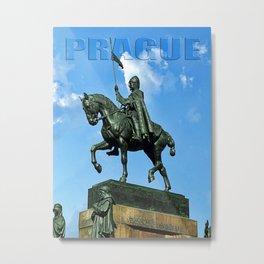 Prague Good King Vaclav Metal Print
