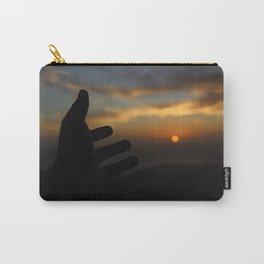 hand in the sunset Carry-All Pouch