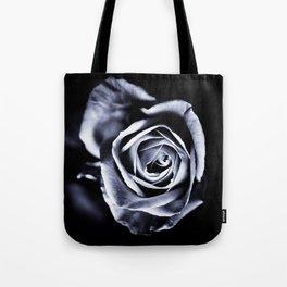 Silver Petals Tote Bag