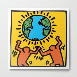 Homage to Keith Haring Metal Print