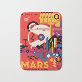 NASA Retro Space Travel Poster #9 Mars Bath Mat