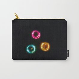 Three Color Light Circles Carry-All Pouch