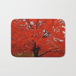 TREES RED Bath Mat
