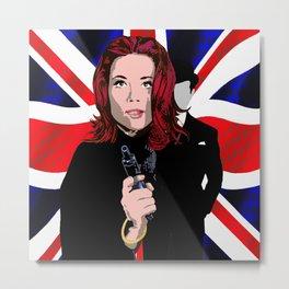 Emma Peel Metal Print