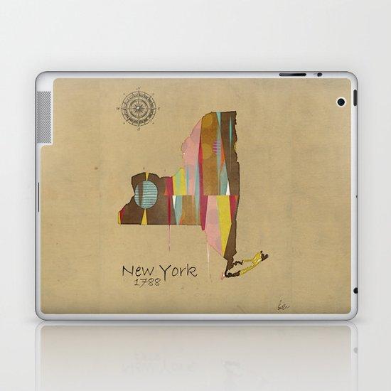 new york state map Laptop & iPad Skin