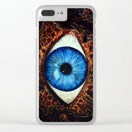 Dark Eye Clear iPhone Case