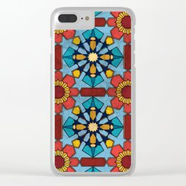 Morocco Mosaic Clear iPhone Case
