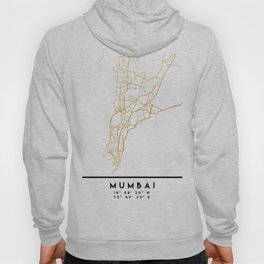 MUMBAI INDIA CITY STREET MAP ART Hoody