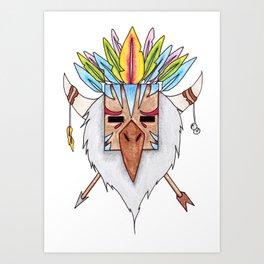 Tiki Bird Art Print