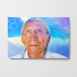 Chief Arvol Looking Horse-Barbara Chichester Metal Print