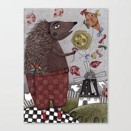 It's a Hedgehog! Canvas Print