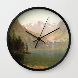 View Of Lake Tahoe Looking Across Emerald Bay 1874 By Thomas Hill | Reproduction Wall Clock
