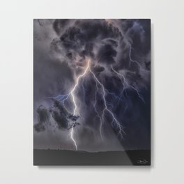 Stormy Weather - Purple Metal Print