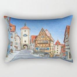 Rothenburg Germany Rectangular Pillow