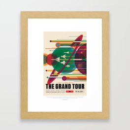 Retro Space Poster - The Grand Tour Framed Art Print